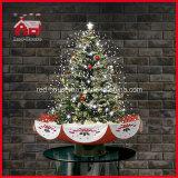 실내 크리스마스 나무 상단 별 다채로운 장신구 훈장