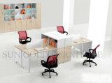 Estação de trabalho reta da divisória do escritório dos assentos da pessoa da forma 4 (SZ-WSL307)