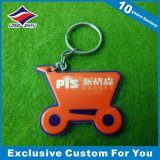 Trousseau de clés à la mode de PVC, trousseau de clés 3D bon marché fait sur commande