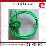 El más nuevo tipo económico cierre de la rueda del color verde del cable