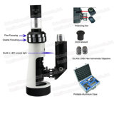 Microscopio metalúrgico portable del polarizador monocular FM-BJ-x