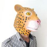 Máscara animal de Víspera de Todos los Santos del traje del leopardo de goma de arriba del látex