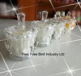 Tarros de cristal decorativos al por mayor de la vela con alta calidad