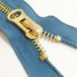 #8 oro Teeth Metal Zippers per Garment