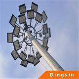 Fußball rieb 15m LED hohe der Mast-Beleuchtung mit 3PCS 180W LED Flut-Lampe