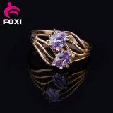 Het Goud van Doubai van de Ring van de Diamant van de Steen van CZ van de Ring van de Vrouwen van China van de Fabrikant van juwelen
