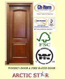 Твердая дверь/твердая деревянная древесина /Natural двери с конструкцией 4 панелей