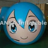 Esfera gigante inflable con Sologan para los acontecimientos