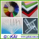 Rimuovere lo strato di plastica acrilico impermeabile del plexiglass del getto