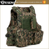 Tan Color Tactical Molle Vest с водохранилищем Hydration