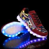 Светящий USB поручая ботинки СИД для людей и женщин