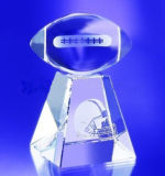 Trofeo de cristal Premio Crystal con la pelota de golf Fútbol Baloncesto Tenis Fútbol