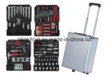 carretilla de aluminio de la herramienta de mano 186PC, conjunto de herramienta de los mecánicos 399PC con las herramientas, kit de herramienta de la reparación de la mano,
