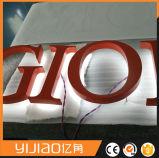금속 편지 표시, LED 뒤 가벼운 표시