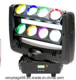 8PCS 10W RGBW 4 in 1 indicatore luminoso capo mobile del fascio del ragno del LED