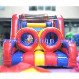 팽창식 활주 도약자 또는 운동장 활주 성곽 또는 아이 거대한 팽창식 장애물 코스