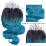 "20 "" Ombre 3tone Hair Weft 1b Blue Green Human Hair"