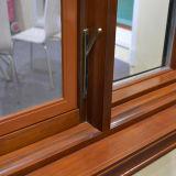 Guichet en bois en aluminium de tissu pour rideaux avec le blocage détraqué Kz206