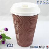 La impresión Kraft de Flexo ondula la taza de papel del café de la pared