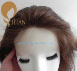 Fermeture de dessus des cheveux humains 4# pour la femme