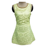 Femaleのための袖なしのPunch Fabric Dress