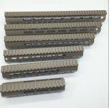 6 tipo montaje Handguard del carril de Nsr Keymod del color de Tan/Fde de la longitud 7-15 pulgadas