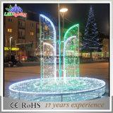 Luz clara da decoração da rua do diodo emissor de luz da luz do motivo do Natal do diodo emissor de luz das fontes 3D ao ar livre