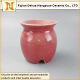 Glaze coloré Porcelain Oil Diffuser avec Tealight Candle
