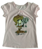 Kids popolare Girl T-Shirt in Wear Sgt-069 del Children