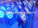 단계 디스코를 위한 최신 판매 고전적인 12X5w RGBA LED 편평한 동위