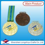 권투 경기 기념품 권투 메달 포상을%s 빛나는 금 은 구리 메달