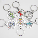 Alliage Rotatable Football Keyring pour Promotion Gift (Kr)