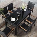 Il ristorante di alluminio della mobilia di prezzi del Pe-Rattan Uv-Resistente esterno poco costoso di alta qualità ha impostato da Chair e dalla Tabella (YT003)
