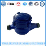 Medidor de água do tipo Multi-Jet Dry em plástico / ferro / corpo de latão