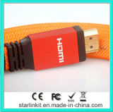 Плоский помеец кабеля куртки PVC 1.4V 1080P HDMI