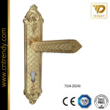 Het klassieke Handvat van het Slot van de Deur van de Luxe van de Stijl op Backplate (7055-Z6358)