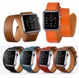 Bande de poignet véritable de courroie en cuir de cru de bande de montre d'Apple