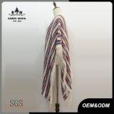 Camicia a strisce del poncio della frangia lavorata a maglia Boho di modo delle donne