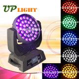 6in1ズームレンズ36*18W LEDのプロ軽い移動ヘッド(紫外線RGBWA)