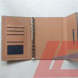 Рециркулированная подгонянная книги дневника PU тетрадь PU кожаный кожаный