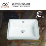 Керамический тазик, раковина шкафа ванной комнаты, тазик сосуда (6026)