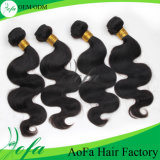 Prolonge non transformée en gros de cheveux humains de l'armure 100% de cheveu d'usine