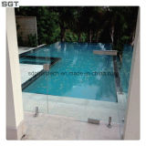 Tempered 10mm-12mm Ultra Clear Glass para Glass Fencing
