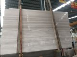 中国White Wooden Marble、Light White Serperggiante Marble Slab、WallおよびFloor TileのためのSilver Wooden Marble、