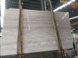 Mármol de madera blanco de China, losa de mármol blanca ligera de Serperggiante, mármol de madera de plata, para el azulejo de la pared y de piso