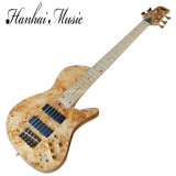 Musique de Hanhai/guitare basse électrique de Fodera avec 5 chaînes de caractères