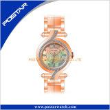 Montre-bracelet suisse de luxe élégante des dames Psd-2238