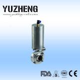 Fabricante sanitario de la válvula de mariposa del tornillo de Yuzheng
