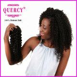 Quercy 머리 비꼬인 컬 브라질 머리 직물 100%년 Virgin Remy 사람의 모발 Virgin 브라질 비꼬인 곱슬머리