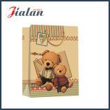 Sac de cadeau d'achats de main de papier de Brown emballage d'ours de jouet d'impression
